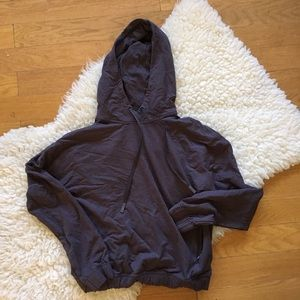 LULULEMON gray twisted and tucked pullover